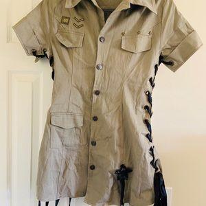 Halloween sexy army costume; vintage